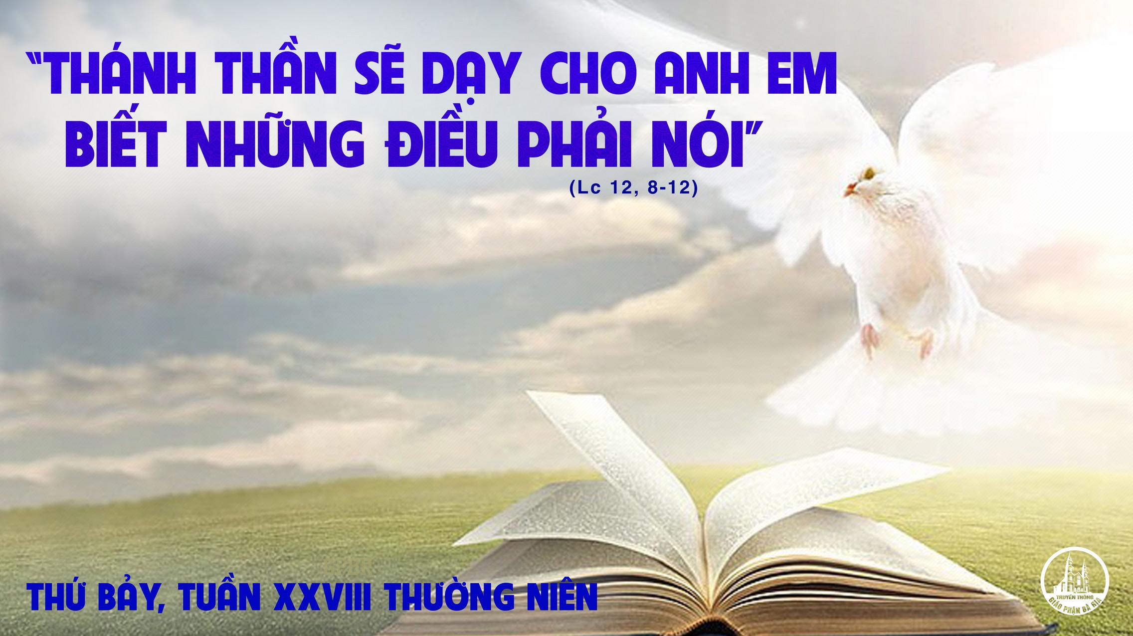 16.10 Thứ Bảy Tuần XXVIII Mùa Thường Niên Năm lẻ