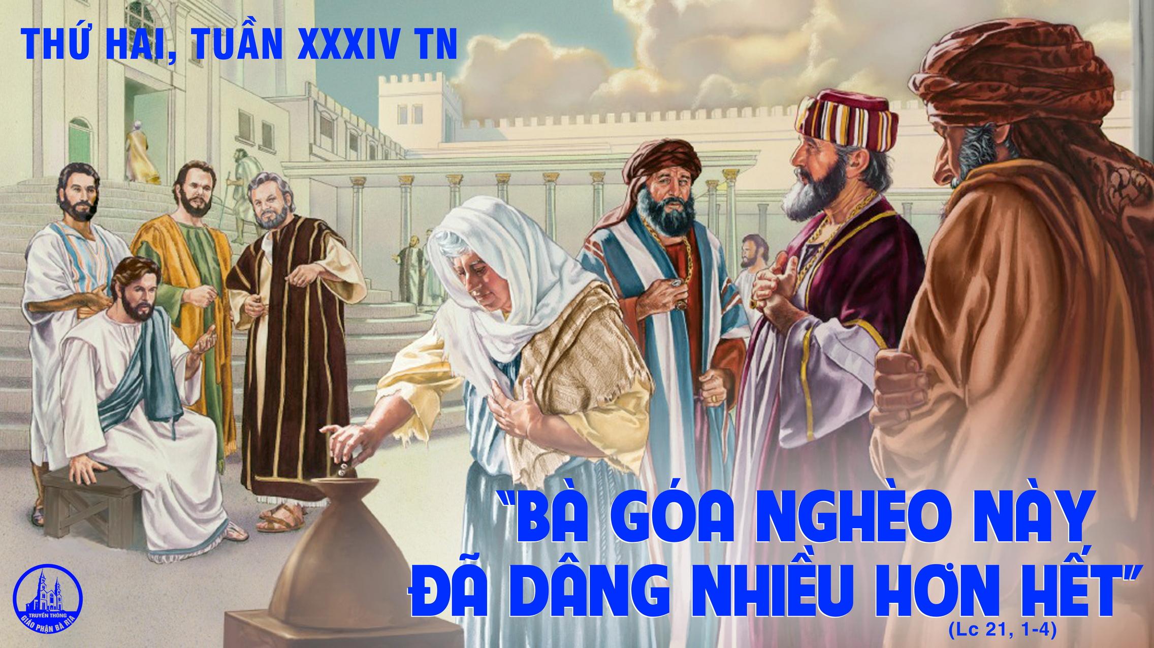 23.11 Thứ Hai Tuần XXXIV Mùa Thường Niên Năm chẵn